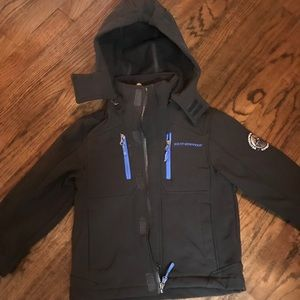 Weatherproof black and blue jacket size 5/6